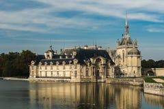 Castillo francés de Chantilly foto de archivo