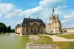 Castillo francés de Chantilly, cerca de París Fotos de archivo libres de regalías