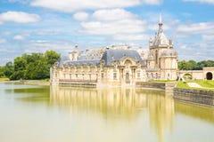 Castillo francés de Chantilly París Foto de archivo