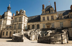 Castillo francés de Fontainebleau, Francia fotografía de archivo libre de regalías