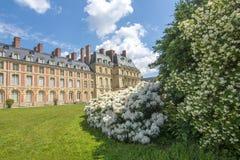 Castillo francés de Fontainebleau, Francia del palacio de Fontainebleau fotografía de archivo