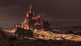 Castillo francés de la costa costa ilustración del vector