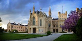 Castillo francés de Lednice Fotografía de archivo libre de regalías