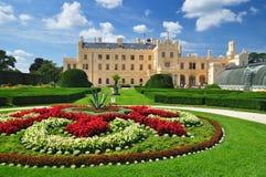 Castillo francés de Lednice, herencia de la UNESCO Fotos de archivo libres de regalías