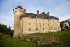 Castillo francés de los viajes en la puesta del sol Fotos de archivo