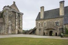 Castillo francés de Santo-Sauveur-le-Vicomte, Normandía, Francia, Imagen de archivo
