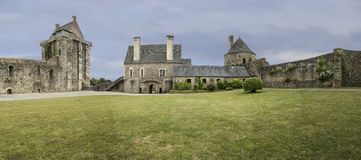 Castillo francés de Santo-Sauveur-le-Vicomte Panorama Fotografía de archivo