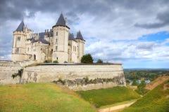 Castillo francés de Saumur, Francia Foto de archivo libre de regalías