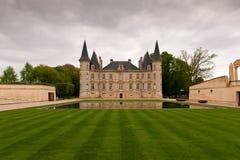 Castillo francés del vino de Burdeos Imagen de archivo