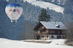 Castillo francés DOex 2014 del festival del globo Fotografía de archivo libre de regalías
