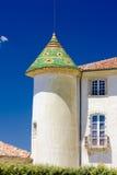 Castillo francés en Aiguines fotos de archivo