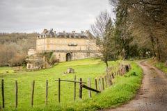 Castillo francés en la región de Dordoña, Francia imagen de archivo