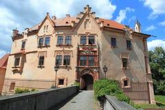 Castillo francés en Vrchotovy Janovice Imagen de archivo