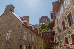 Castillo francés Frontenac Imagenes de archivo