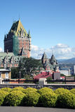 Castillo francés Frontenac Canadá Imagen de archivo