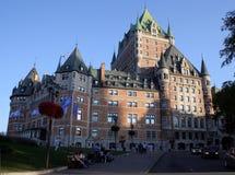 Castillo francés Frontenac de Canadá   Imágenes de archivo libres de regalías