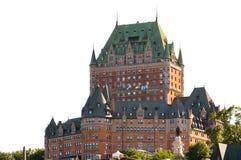 Castillo francés Frontenac en Quebec imagen de archivo libre de regalías