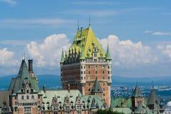 Castillo francés Frontenac en Quebec Fotografía de archivo