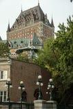 Castillo francés Frontenac en Quebec Foto de archivo libre de regalías