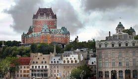 Castillo francés Frontenac en Quebec - Canadá Foto de archivo libre de regalías