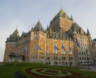 Castillo francés Frontenac en Quebec City, Canadá Imagen de archivo