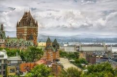 Castillo francés Frontenac en Quebec City, Canadá Foto de archivo