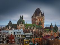 Castillo francés Frontenac en Quebec City, Canadá Fotografía de archivo libre de regalías