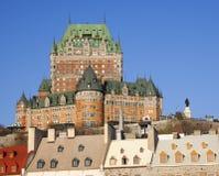 Castillo francés Frontenac, Quebec City Fotografía de archivo libre de regalías