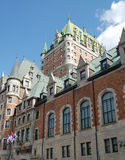 Castillo francés Frontenanc, ciudad vieja Quebec Imágenes de archivo libres de regalías