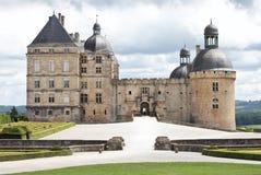 Castillo francés Hautefort en Dordogne Foto de archivo libre de regalías