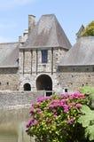 Castillo francés histórico en Normandía Francia Fotografía de archivo libre de regalías