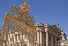 Castillo francés (palacio) de Versalles, puertas del palacio Fotografía de archivo libre de regalías