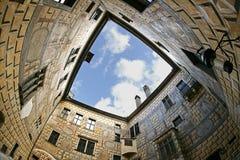 Castillo francés SquareNo2 de Cesky Krumlov Fotos de archivo
