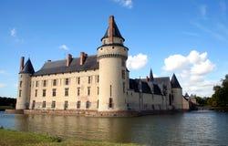 Castillo francés y fosa franceses, Europa Imagen de archivo libre de regalías