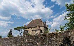 Castillo Francia de Yvoire fotos de archivo
