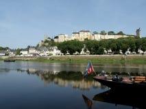 Castillo francés de Chinon Fotografía de archivo libre de regalías