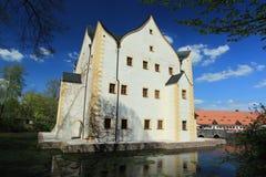 Castillo francés del agua - Klaffenbach Fotografía de archivo libre de regalías
