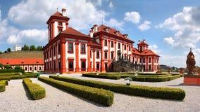 Castillo francés romántico Praga Imagen de archivo libre de regalías
