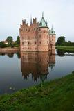 Castillo Funen Dinamarca de Egeskov Imagen de archivo libre de regalías