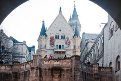 Castillo Fussen Alemania de Neuschwanstein fotografía de archivo