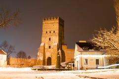 Castillo gótico en Lutsk Foto de archivo
