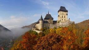 Castillo gótico Karlstejn Foto de archivo libre de regalías