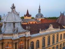Castillo gótico medieval Vajdahunyad del renacimiento en Budapest foto de archivo