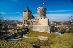 Castillo gótico viejo en la ciudad de BÄ™dzin Imagen de archivo