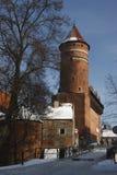 Castillo en Olsztyn Fotos de archivo libres de regalías