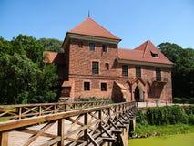 Castillo gótico viejo en Oporow cerca de Kutno, Polonia Foto de archivo libre de regalías