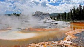 Castillo Geysir, Yellowstone Nationalpark, los E.E.U.U. Fotografía de archivo