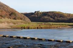 Castillo Gower de Pennard Imagen de archivo libre de regalías