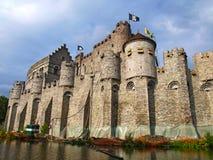 Castillo Gravenstee, Gante, Bélgica Imagen de archivo libre de regalías