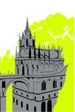 Castillo gris en las maderas Fotografía de archivo libre de regalías